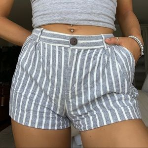 FOREVER 21 Gray Stripe Shorts